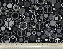 1/2 yard cotton quilt fabric Peace Timeless Treasures peace