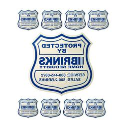 1 HOME SECURITY YARD SIGN and 8 STICKERS / DECALS FOR DOORS