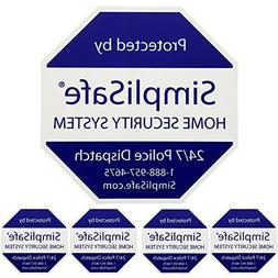 SimpliSafe 1 Home Security Yard Sign With 4 Security Sticker