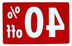 1 Set Luxurious Unique Sale 40% Percent Off Sign Store Decla