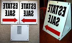 1-Set Unequaled Popular Estate Sale with Arrow Sign 2-Sided