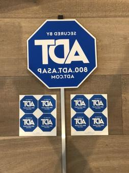 1 ADT Yard Sign Plus 8 Window Stickers
