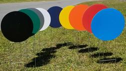 "Blank Yard Signs Circles 11.5"" with H-Stakes **PICK YOUR CO"
