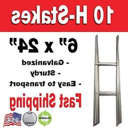 10 Quantity H-stakes for Garage Sale, Political, Charity Tou