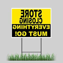 "12""x18"" Store Closing Yard Sign Retail Everything Must Go Ou"