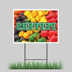 "12""x18"" Bell PeppeRD Yard Fresh Vegetable Organic Green Conc"