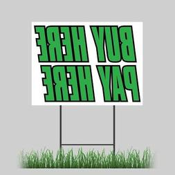 """12""""x18"""" Buy Here Pay Here Green Yard Retail Store Business V"""