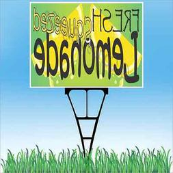 "18""x24"" FRESH SQUEEZED LEMONADE Outdoor Yard Sign & Stake Si"