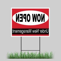 """18""""x24"""" Now Open Yard Sign Retail Business Store Outdoor Vin"""