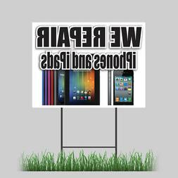 """18""""x24"""" We Repair Cell Phones and Tablets Yard Sign Retail S"""