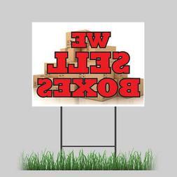 """18""""x24"""" We Sell Boxes Yard Sign Business Cards Letterhead Mo"""