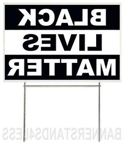 18x12 Inch BLACK LIVES MATTER Yard Sign with Stake - kb1s