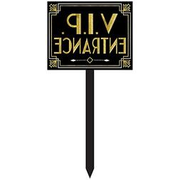 Amscan 190639 Glitz and Glam VIP Entrance Yard Sign, 10 2/5""