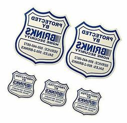 2 Home Security Yard Signs w/ 3 Security stickers for doors