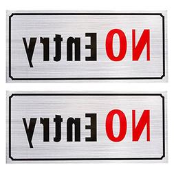 2-Pack of No Entry Signs - No Trespass Signs, Private Proper