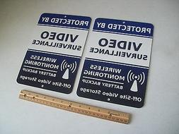 2 Video Surveillance Security System 7x10 Metal Yard Signs -