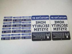 2 Home Security Alarm System Metal Yard Signs & 12 Window St