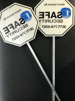 2 HOME YARD SECURITY ALARM SIGN REFLECTIVE PROTECTION SYSTEM