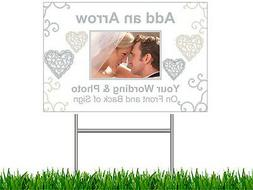 2 Personalized Yard LAWN SIGNS Sign WEDDING Shower Party  2