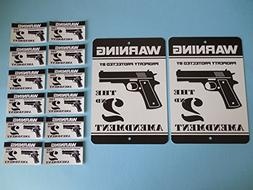 Home Protected By Gun 2nd Amendment Security Yard Sign /& 4 Window Stickers # 723