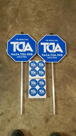 2 ADT Yard Signs 8 Window Stickers REMOVING LISTING AT 2AM