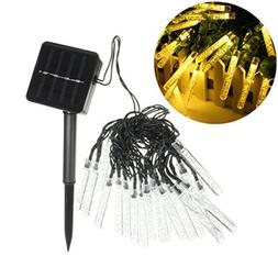 ibdone 15ft 20 LED Solar Christmas Lights Outdoor Garden Str