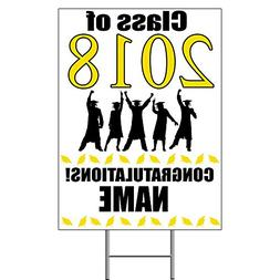 2018 GRADUATION YELLOW YARD SIGN  by Partypro
