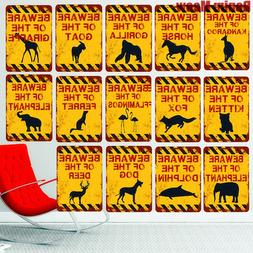 20x30CM BEWARE OF THE DOG Vintage Metal <font><b>Sign</b></f