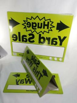 3 Pcs Yard Sale Sign Triangle Style Garage Sale Sign, 2 Smal