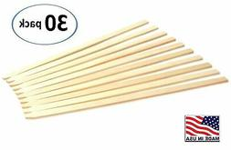 """30 Pack 23"""" Wood Stakes for Garden or Sign Posting"""