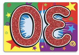 30TH BIRTHDAY SIGN FOR YARD OR PARTY WALL DECORATION