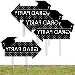 Big Dot of Happiness 4 Grad Party Arrow Signs - Yard Sign Ou