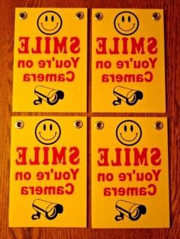 WestGlobal 4 SMILE YOU039RE ON CAMERA Coroplast YARD SIGNS 6