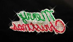 "Northlight 46"" Sparkling Holographic Merry Christmas Sign Ou"