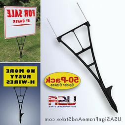 Yard Sign Stakes - H-Wire Yard Stakes Alternative that Won't