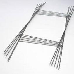 "H Wire Step Stakes for Corrugated Yard Sign Holder 10"" x 30"