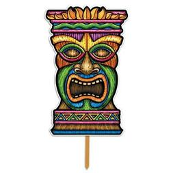 Beistle 54245 3D Plastic Tiki Yard Sign