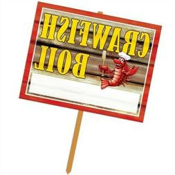 Beistle 54910 Crawfish Boil Yard Sign - Pack of 6