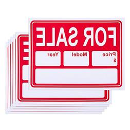 6-Piece for Sale Signs - PVC Signs, Yard Sale Signs, Garage