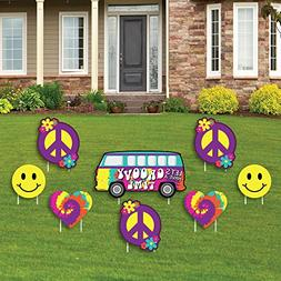 Big Dot of Happiness 60's Hippie - Yard Sign & Outdoor Lawn