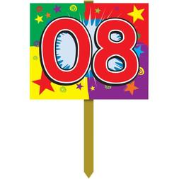 80 Birthday Yard Sign Party Accessory