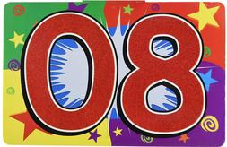 80TH BIRTHDAY SIGN FOR YARD OR PARTY WALL DECORATION