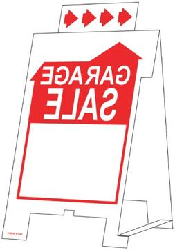 Hillman 848601 Garage Sale Tent Sign, White and Red Corrugat