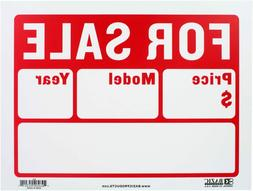 """BAZIC 9"""" X 12"""" For Sale Sign for Car and Auto Sales"""