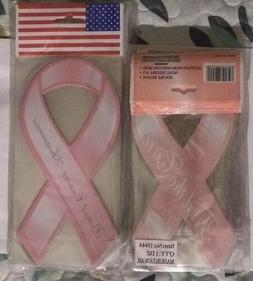 96 Assorted Sizes Pink Ribbon Shaped Breast Cancer Awareness