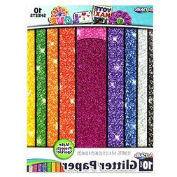 "ArtSkills Glitter Premium Paper, Assorted Colors, 9"" x 12"","