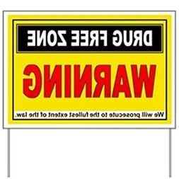 CafePress - DRUG FREE ZONE Yard Sign - Yard Sign, Vinyl Lawn