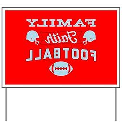 CafePress - Family Faith Football Red - Yard Sign, Vinyl Law