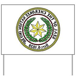 CafePress - Great Seal of the Cherokee Nation Yard Sign - Ya