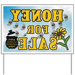 CafePress - Honey Sale Yard Sign - Yard Sign, Vinyl Lawn Sig